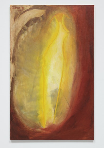 "Elizabeth Ibarra, <em>""Let There Be Light"" (the sun)</em>, 2020. Acrylic on canvas. Courtesy Rental Gallery."