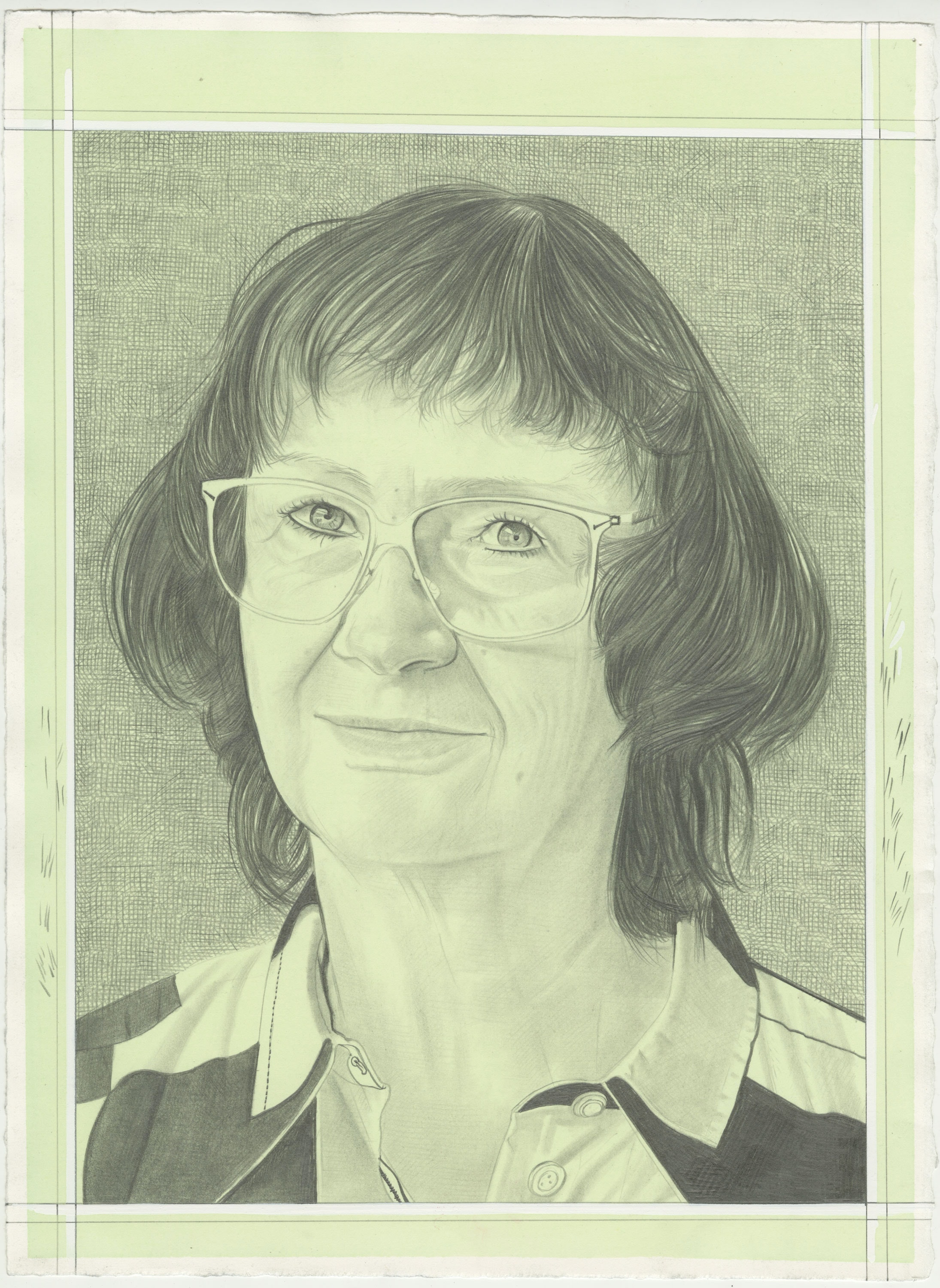 Portrait of Jo Smail, pencil on paper by Phong H. Bui.