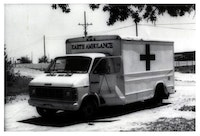 Helène Aylon, <em>The Earth Ambulance</em>, 1982. Inkjet pigment print, 11 x 8 1/2 inches. © Estate of Helène Aylon. Courtesy Leslie Tonkonow Artworks + Projects.