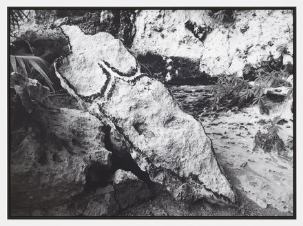 Ana Mendieta, <em>Bacayu (Esculturas Rupestres)</em> [Light of Day (Rupestrian Sculptures)], 1981/2019. Black and white photograph, 40 x 55 inches. &cpopy; The Estate of Ana Mendieta Collection, LLC. Courtesy Galerie Lelong & Co.