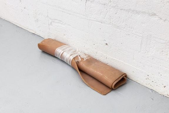 Laurie Kang, <em>Spit</em>, 2016–2020. Pigmented silicone, stretch wrap. Courtesy the artist and Franz Kaka, Toronto.