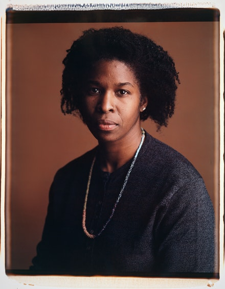 Dawoud Bey, <em>Cheryl Lynn Bruce</em>, 1991. Dye dispersion Polaroid print, 22 x 30 inches. © Dawoud Bey. Courtesy the artist, Sean Kelly Gallery, Stephen Daiter Gallery, and Rena Bransten Gallery.