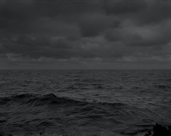 "Dawoud Bey, <em>Untitled #25 (Lake Erie and Sky)</em>, from ""Night Coming Tenderly, Black,"" 2017 Silver gelatin print, 44 x 55 inches. © Dawoud Bey. Courtesy the artist, Sean Kelly Gallery, Stephen Daiter Gallery, and Rena Bransten Gallery."