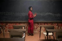 Lupita Nyong'o as Adelaide Wilson doppelgänger Red in <em>Us</em>, written, produced, and directed by Jordan Peele. Photo: Claudette Barius/Universal Pictures.