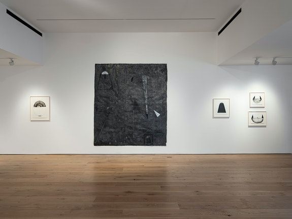Installation view: <em>Studies for Bird and Lava, </em>Pace Gallery, East Hampton, August 1 - 9, 2020. Courtesy Pace Gallery.