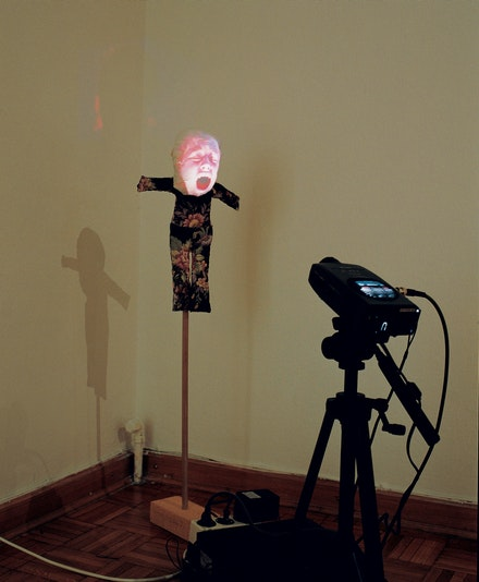 Installation view: <em>Tony Oursler: Judy</em>, Kunstlerhaus Salzburg, Austria, 1994. Courtesy the artist.