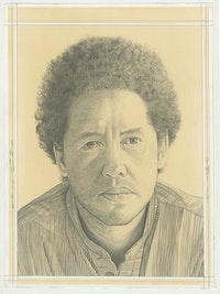 Portrait of Michael Armitage, pencil on paper by Phong H. Bui