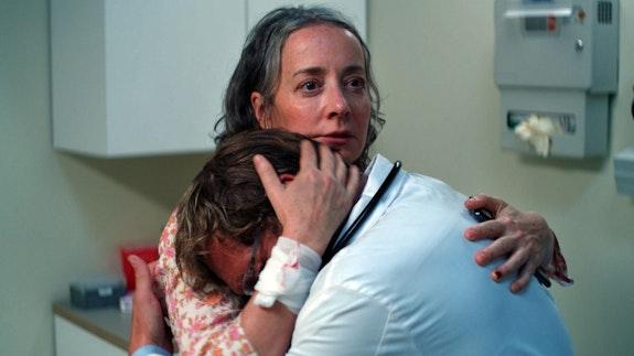 Jane Adams and Josh Lucas in Amy Seimetz's <em>She Dies Tomorrow</em>. Courtesy Neon.