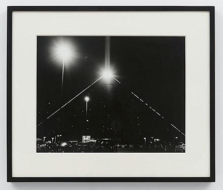 Scott Benzel, <em>Luxor, Las Vegas</em>, 2020. Gelatin silver print, 22 x 26 inches. Courtesy Bel Ami, Los Angeles.