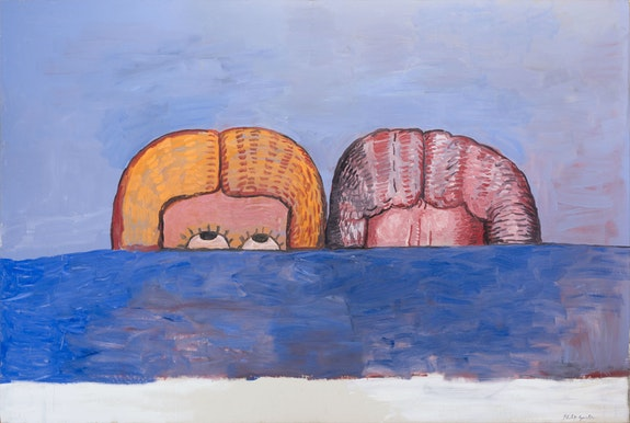 Philip Guston, <em>Both, </em>1975. Oil on canvas, 78 x 116 inches.  © The Estate of Philip Guston, courtesy Hauser & Wirth.