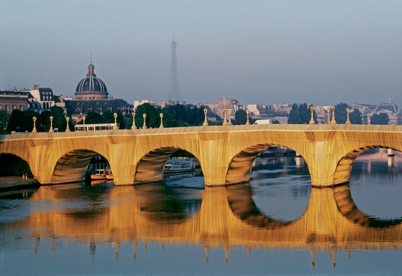 The Pont Neuf Wrapped, Paris, 1975-85. Courtesy Christo and Jeanne-Claude. Photo: Wolfang Volz.