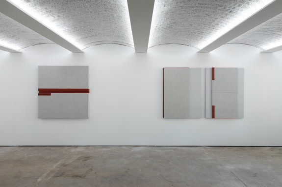 Installation view, <em>Jennie C. Jones: Passing Tones and Broken Chords</em>, Alexander Gray Associates, Germantown, 2020. Courtesy Alexander Gray Associates.