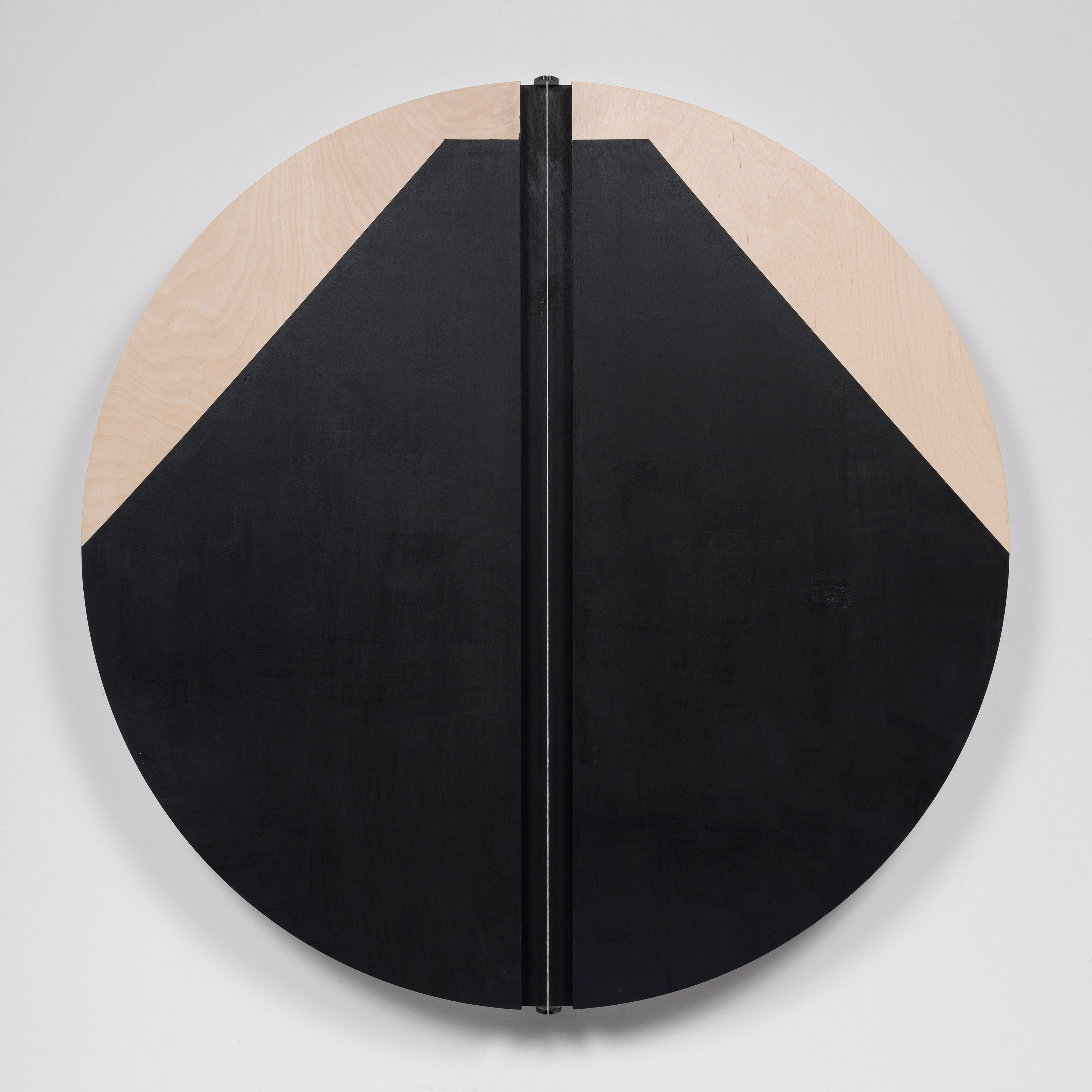 Torkwase Dyson, <em>I Am Everything That Will Save Me (Bird and Lava)</em>, 2020. Acrylic and string on wood, 36 inch diameter. © Torkwase Dyson. Courtesy Pace Gallery. Photo: Kris Graves.