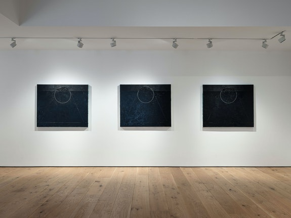 Installation view: <em>Torkwase Dyson: Studies for Bird and Lava</em>, Pace Gallery, East Hampton, 2020. Courtesy Pace Gallery.