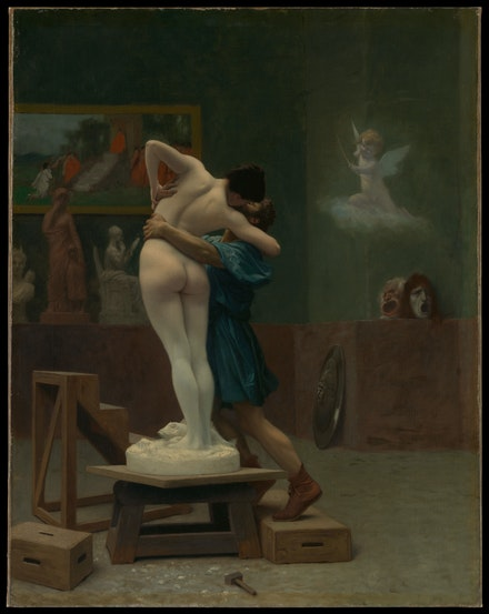 Jean-Léon Gérôme, <em>Pygmalion and Galatea</em>, c.1890. Oil on canvas, 35 x 27 inches. The Metropolitan Museum of Art, New York, Gift of Louis C. Raegner.