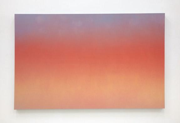 Isaac Aden, <em>Aurora l</em>, 2020. Oil on canvas, 60 x 94 1/2 inches. © Isaac Aden. Courtesy David Richard Gallery.
