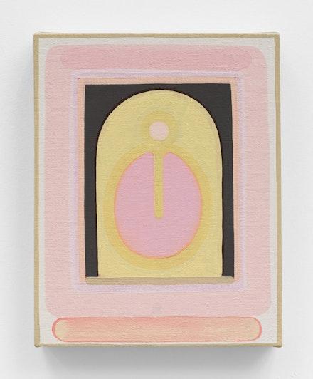 Lily Stockman, <em>New Dahlia</em>, 2020. Oil on linen, 14 x 11 inches. Courtesy Charles Moffett, New York.