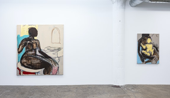 Installation view: <em>Ferrari Sheppard: Heroines of Innocence</em>, Wilding Cran Gallery, Los Angeles, 2020. Courtesy the artist and Wilding Cran Gallery.
