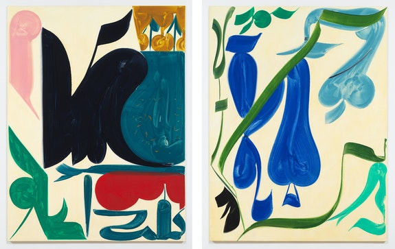 Left: Patricia Treib, <em>Interlude II</em>, 2020. Right: <em>Shoulders</em>, 2020. Courtesy the artist and Bureau, New York.