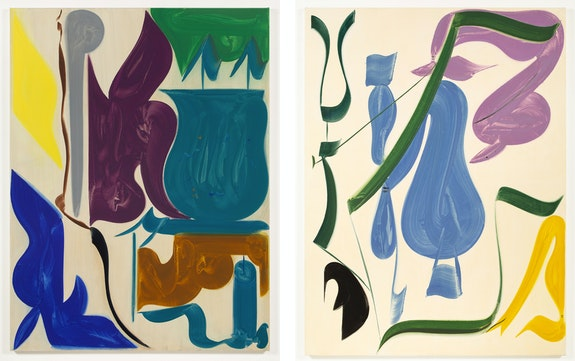 Left: Patricia Treib, <em>Flourish II</em>, 2020. Right: <em>Stems</em>, 2020. Courtesy the artist and Bureau, New York.