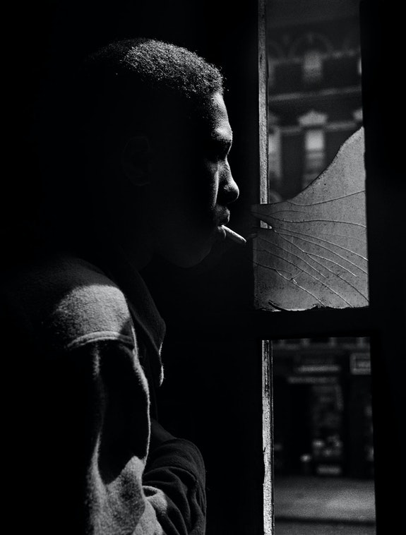 Gordon Parks, <em>Red Jackson, Harlem, New York, 1948.</em> Courtesy of and copyright The Gordon Parks Foundation.