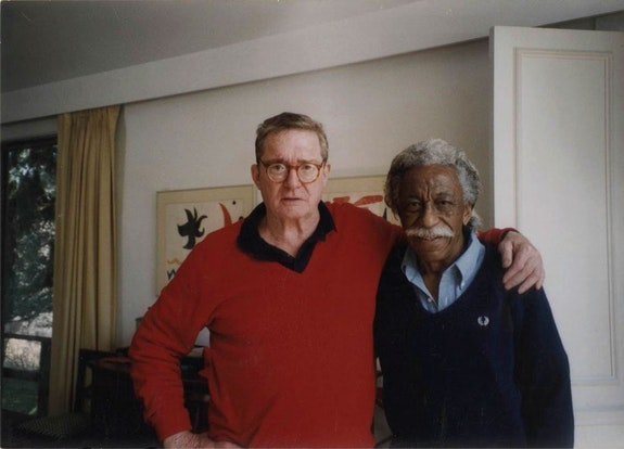 Gordon Parks, <em>Philip B, Kunhardt, Jr. and Gordon Parks, Chappaqua, New York, ca. 2000.</em> Courtesy of and copyright The Gordon Parks Foundation.