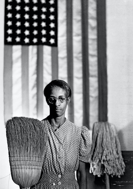 Gordon Parks, <em>American Gothic, Washington, D.C., 1942.</em> Courtesy of and copyright The Gordon Parks Foundation.