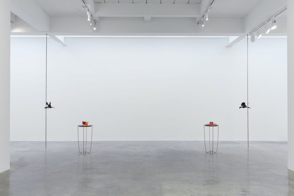 Julia Phillips, <em>Oppressor with Soul, In Treatment & Suppressor with Spirit, In Treatment</em>, 2020. Ceramic, stainless steel, nylon hardware, dimensions variable. © Julia Phillips, Courtesy Matthew Marks Gallery
