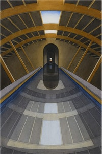 Lauretta Vinciarelli, <em>The Subway Series (2 of 3)</em>, 1988. Watercolor on paper, 30 x 22 1/2 inches. Courtesy TOTAH, New York.