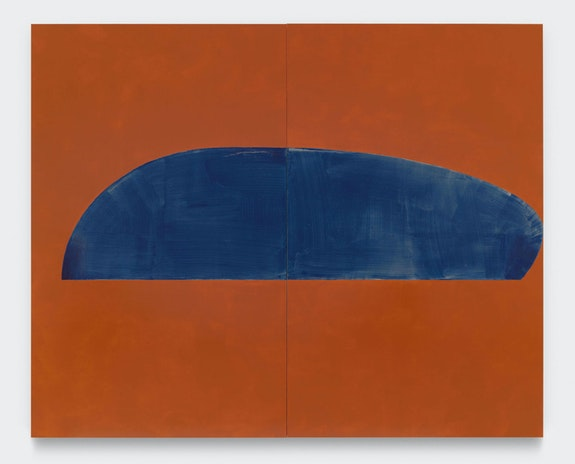 Suzan Frecon, <em>mars indigo</em>, 2019. © Suzan Frecon. Courtesy the artist and David Zwirner.