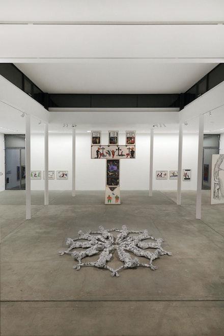Installation view: Pedro Moraleida Bernardes, Young-jun Tak, Florencia Rodriguez Giles. KW Institute for Contemporary Art. Photo: Silke Briel.