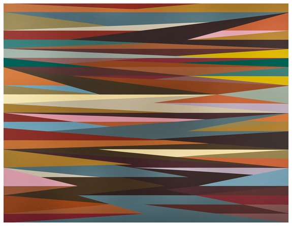 Odili Donald Odita,<em> Power Line</em>, 2003. Acrylic on canvas, 84 x 109 inches. Courtesy the artist.