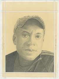 Odili Donald Odata, pencil on paper by Phong H. Bui.