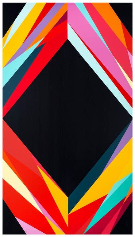 Odili Donald Odita, <em>Mirror 2</em>, 2019, Acrylic latex paint on aluminum core fabricated wood panel on reconstituted wood veneer, 92