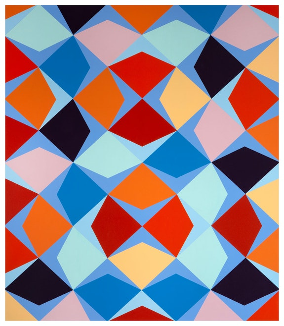 Odili Donald Odita, <em>Iron Butterfly</em>, 2019, Acrylic on canvas, 60.25