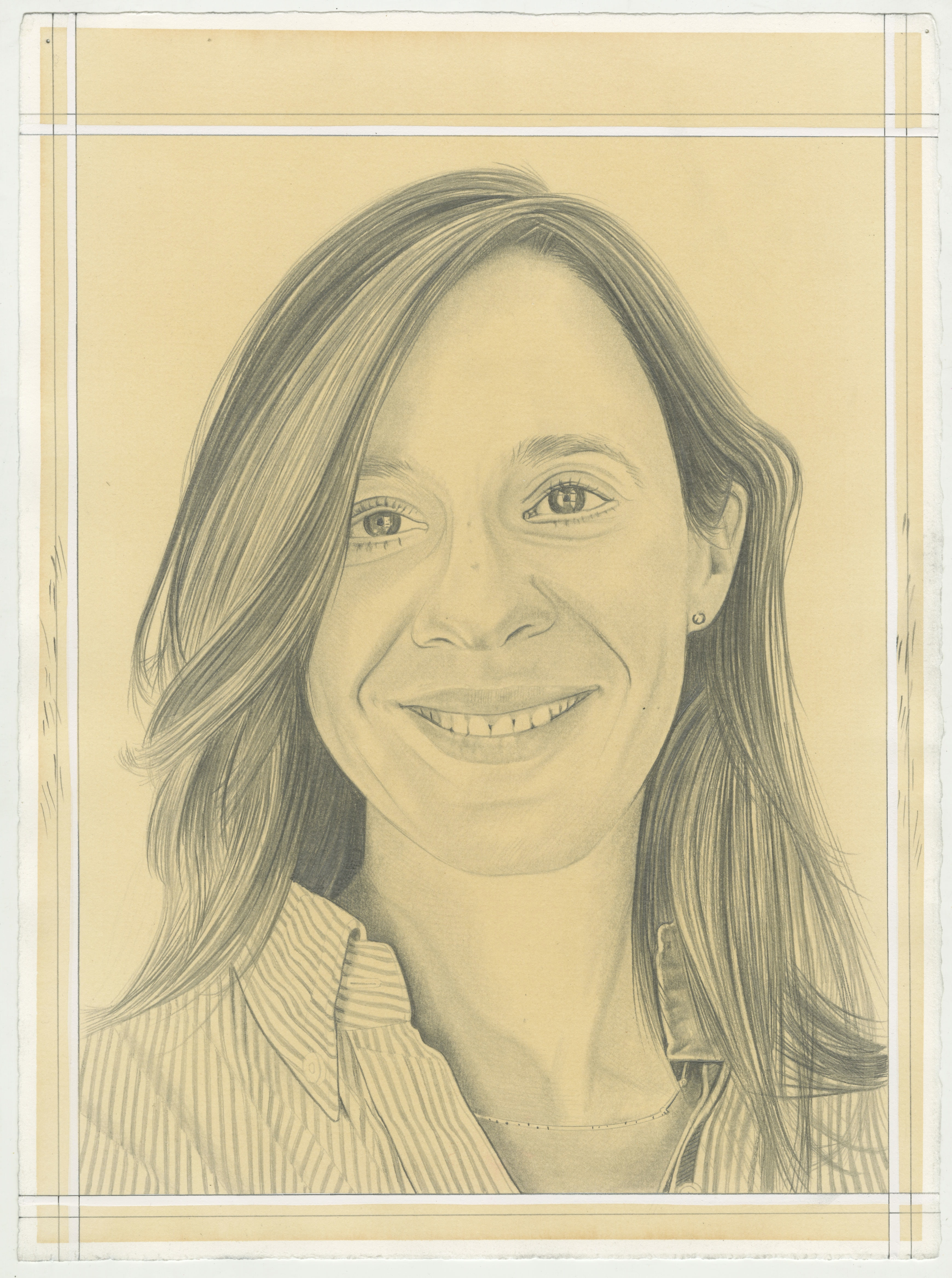 Portrait of Amanda Gluibizzi, pencil on paper by Phong H. Bui.
