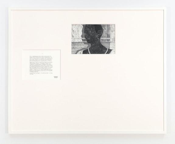 Toyin Ojih Odutola, <em>Always Been</em>, 2020. Graphite and ink on Dura-Lar, 33 1/2 x 41 1/2 inches. © Toyin Ojih Odutola. Courtesy of the artist and Jack Shainman Gallery, New York.