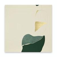 Gabriel Orozco, <em>Ochiba</em>, 2020. Tempera and gold leaf on linen canvas, 78 3/4 x 78 3/4 x 11/4 inches. Courtesy of the artist and Marian Goodman Gallery, New York. Photo credit: Gerardo Landa.