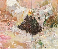 Peter Doig, <em>Ski Jacket</em>, 1994. Oil on canvas, 116 x 138 inches. © Peter Doig. Tate. Purchased with assistance from Evelyn, Lady Downshire's Trust Fund 1995. All rights reserved, DACS & JASPAR 2020 C3120.