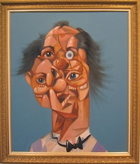 "George Condo, ""Jean Louis' Mind,"" 2005. Oil on canvas 45 x 38 inches. Courtesy of Luhring Augustine Gallery."