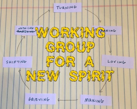 For the group's first iteration, Borinsky led participants through a cyclical structure. Courtesy the artist.