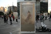 <em>Correspondences</em> by Ximena Garnica and Shige Moriya at Astor Place. Photo: Paula Court.