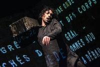 Vahram Zaryan, Non-Mime performance <em>Oblique Cycle 1</em>.<em> </em>Photo: © Remy Grandroques.
