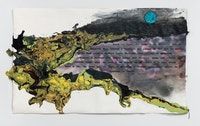 Rodney McMillian, <em>Mississippi Appendectomy</em>, 2020. Ink, acrylic, latex, and vinyl on paper mounted on canvas 53 x 90 inches. Courtesy the artist and Vielmetter, Los Angeles. Photo: Brica Wilcox.