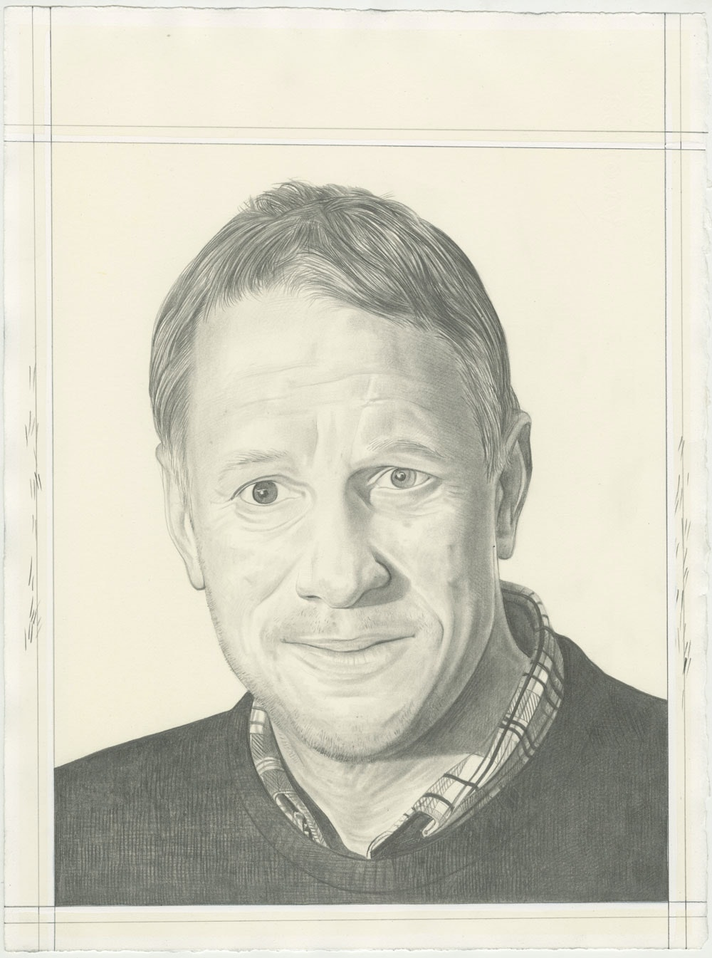 Jeff Elrod. Pencil on paper by Phong H. Bui
