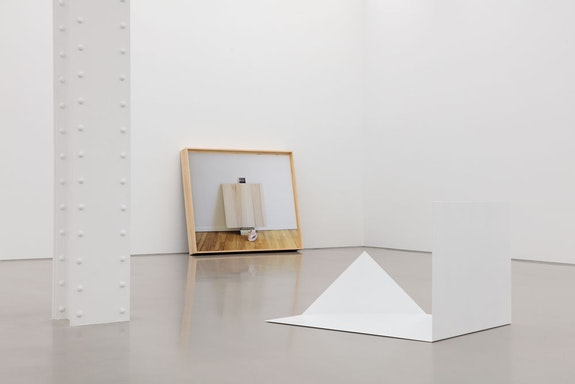 Installation view: <em>Leslie Hewitt: Reading Room</em>, Perrotin, New York, 2019. Courtesy the artist and Perrotin. Photo: Guillaume Ziccarelli.