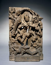 Chamunda dancing on a corpse, Madhya Pradesh, Central India, 800s. ©The Trustees of the British Museum.