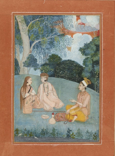 A woman visiting two Nath yoginis, North India, Mughal, about 1750. ©The Trustees of the British Museum.