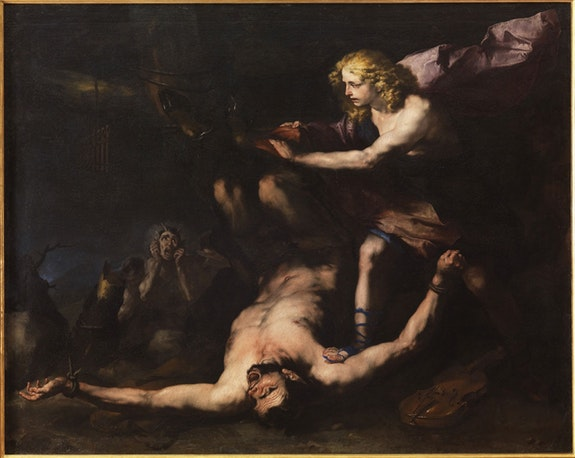 Luca Giordano, <em>Apollo and Marsyas</em>, c.1660. Courtesy Museo di Capodimonte, Naples.