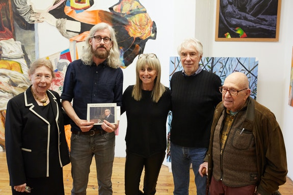 Randy Wray receiving the inaugural Irving Sandler Prize at the Sharpe-Walentas Open Studios, April 2019. Courtesy the Sharpe-Walentas Studio Program.